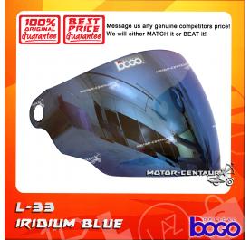 BOGO VISOR L33 (LTD) IRIDIUM BLUE