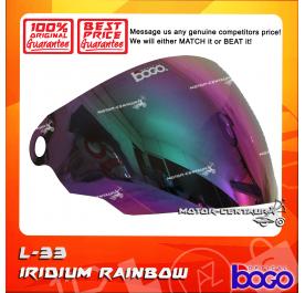 BOGO VISOR L33 (LTD) IRIDIUM RAINBOW