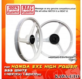KAWA-GTO SPORT RIM 333 1.40X17(F) 1.60X17(R) EX5 WHITE