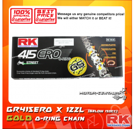 RK O-RING CHAIN GS415ERO X 122L GOLD PLATED (OUTER LAYER ONLY)