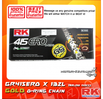 RK O-RING CHAIN GS415ERO X 132L GOLD PLATED (OUTER LAYER ONLY)