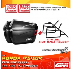 GIVI E22N SIDE CASES + GIVI YAMAHA RS150R SBL SIDEBAG HOLDER
