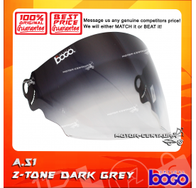 BOGO VISOR A51 (ARC RITZ) 2-TONE DARK GREY