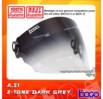 BOGO VISOR A51 (ARC RITZ) 2-TONE DARK GREY