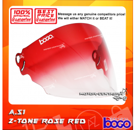 BOGO VISOR A51 (ARC RITZ) 2-TONE ROSE RED