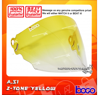 BOGO VISOR A51 (ARC RITZ) 2-TONE YELLOW