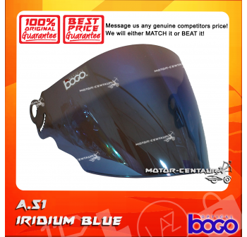 BOGO VISOR A51 (ARC RITZ) IRIDIUM BLUE