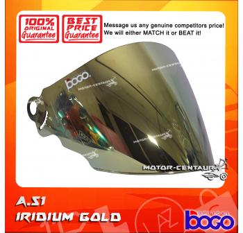 BOGO VISOR A51 (ARC RITZ) IRIDIUM GOLD