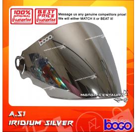 BOGO VISOR A51 (ARC RITZ) IRIDIUM SILVER