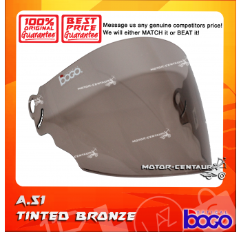 BOGO VISOR A51 (ARC RITZ) TINTED BRONZE