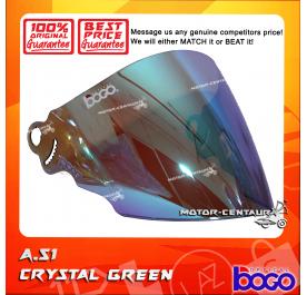 BOGO VISOR A51 (ARC RITZ) CRYSTAL GREEN