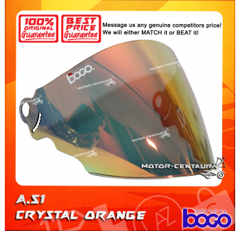 BOGO VISOR A51 (ARC RITZ) CRYSTAL ORANGE