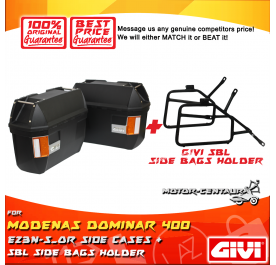 GIVI E23N-S-OR SIDE CASES + GIVI MODENAS DOMINAR 400 SBL SIDEBAG HOLDER
