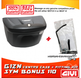 GIVI G12N CENTRE CASE + FITTING KIT FOR SYM BONUS 110
