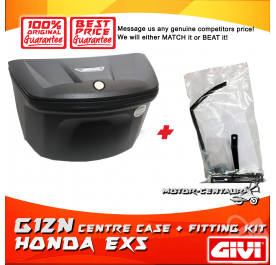 GIVI G12N CENTRE CASE + FITTING KIT FOR HONDA EX5