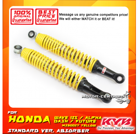 KYB KAYABA REAR SHOCK ABSORBER MS3002Y HONDA WAVE110 / FUTURE / ALPHA / DASH YELLOW (L & R)