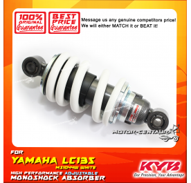 KYB KAYABA ADJUSTABLE REAR MONOSHOCK ABSORBER MS1044W YAMAHA LC135 WHITE