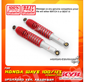 KYB KAYABA REAR SHOCK ABSORBER MS3025R HONDA WAVE100 /WAVE125 RED (L & R)