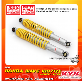 KYB KAYABA REAR SHOCK ABSORBER MS3025Y HONDA WAVE100 /WAVE125 YELLOW (L & R)