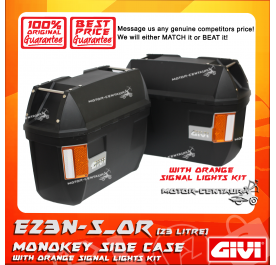 GIVI MONOKEY SIDE CASES CRUISER E23N-S_OR BLACK (ORANGE SIGNALS LIGHT)