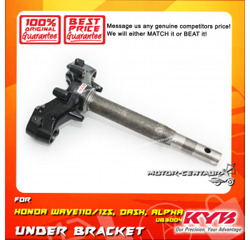 KYB KAYABA UNDER BRACKET HANDLE T-FORK UB3004 HONDA WAVE 110 / DASH