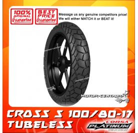 CORSA PLATINUM TUBELESS TYRE CROSS S 100/80-17