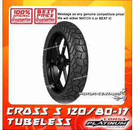 CORSA PLATINUM TUBELESS TYRE CROSS S 120/80-17
