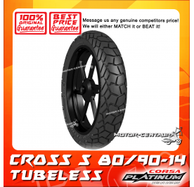 CORSA PLATINUM TUBELESS TYRE CROSS S 80/90-14