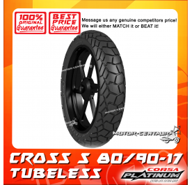 CORSA PLATINUM TUBELESS TYRE CROSS S 80/90-17
