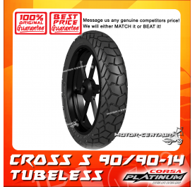 CORSA PLATINUM TUBELESS TYRE CROSS S 90/90-14
