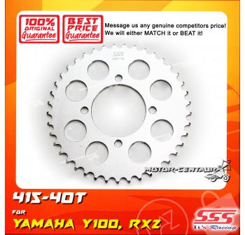 SSS REAR SPROCKET STEEL Y100 415-40T