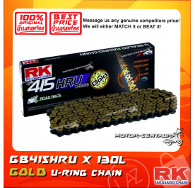 RK U-RING CHAIN GB415HRU X 130J GOLD PLATED (INNER & OUTER LAYERS)