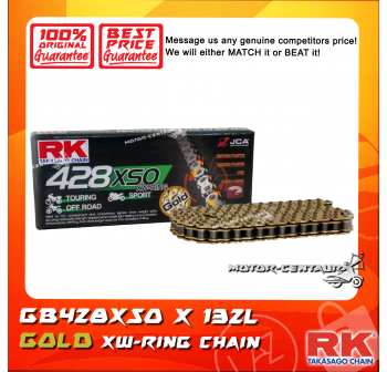 RK XW-RING CHAIN GB428XSO X 132J GOLD PLATED (INNER & OUTER LAYERS)
