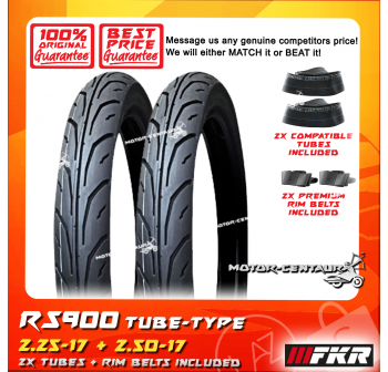 FKR TYRE RS900 2.25-17 + 2.50-17 + TUBES