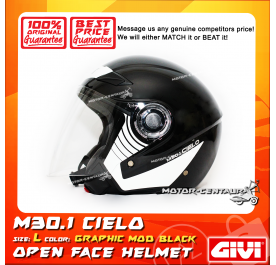 GIVI JET HELMET M30.1 CIELO L GRAPHIC MOD BLACK