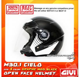 GIVI JET HELMET M30.1 CIELO S GRAPHIC MOD BLACK