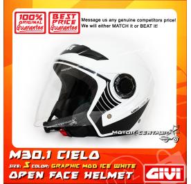 GIVI JET HELMET M30.1 CIELO S GRAPHIC MOD ICE WHITE