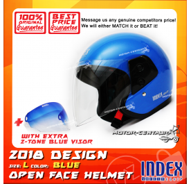 INDEX HELMET BLUE + 2-TONE BLUE VISOR