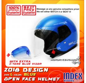 INDEX HELMET BLUE + 2-TONE BLUE VISOR