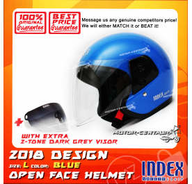 INDEX HELMET BLUE + 2-TONE DARK GREY VISOR