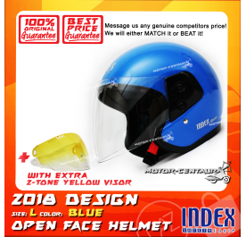 INDEX HELMET BLUE + 2-TONE YELLOW VISOR