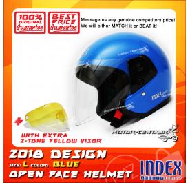 INDEX HELMET BLUE + 2-TONE YELLOW VISOR