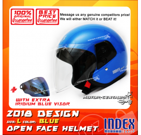 INDEX HELMET BLUE + IRIDIUM BLUE VISOR