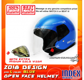 INDEX HELMET BLUE + IRIDIUM GOLD VISOR