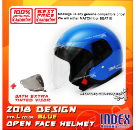 INDEX HELMET BLUE + TINTED VISOR