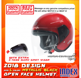 INDEX HELMET RED + 2-TONE DARK GREY VISOR