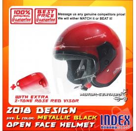 INDEX HELMET RED + 2-TONE ROSE RED VISOR