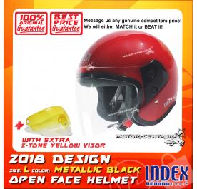 INDEX HELMET RED + 2-TONE YELLOW VISOR