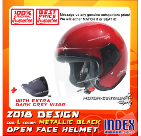INDEX HELMET RED + DARK GREY VISOR