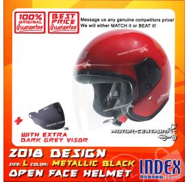 INDEX HELMET RED + DARK GREY VISOR